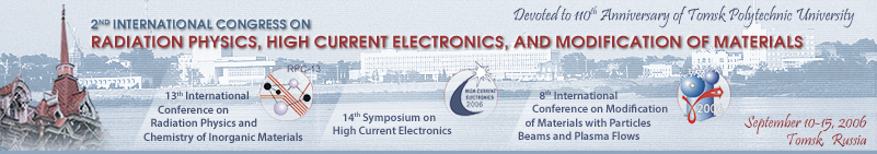 2nd International Congress on Radiation Physics, High Current Electronics, and Modifiation of Materials